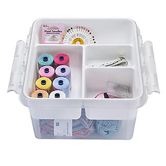 SmartStore Deco Plastic Sewing Box with Insert 8L alt image 4