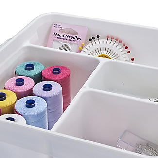 SmartStore Deco Plastic Sewing Box with Insert 8L alt image 5
