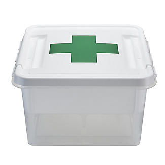 SmartStore Deco Plastic First Aid Box with Insert 8L