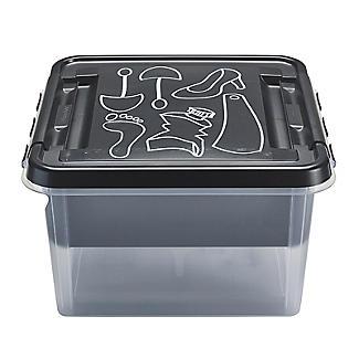 SmartStore Deco Plastic Shoe Care Box with Insert 8L