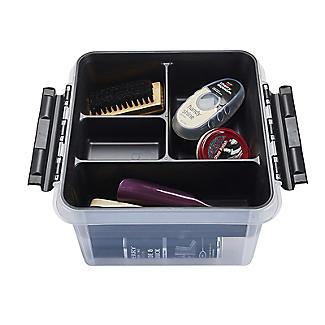 SmartStore Deco Plastic Shoe Care Box with Insert 8L alt image 6