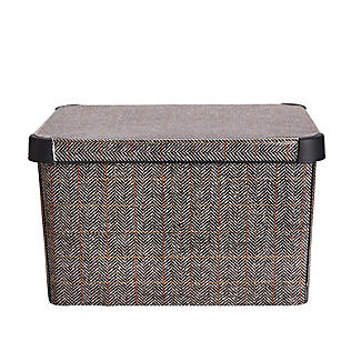 Curver Tweed Effect Storage Box with Lid 22L