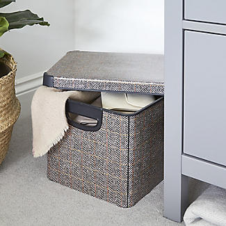 Curver Tweed Effect Storage Box with Lid 22L alt image 2