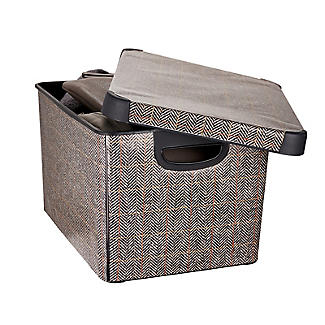 Curver Tweed Effect Storage Box with Lid 22L alt image 3