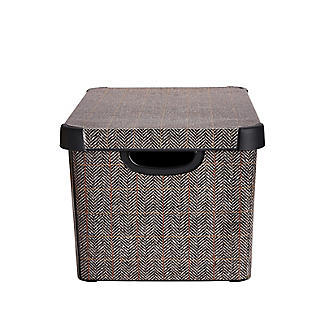 Curver Tweed Effect Storage Box with Lid 22L alt image 4