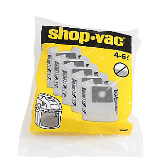 Wet and Dry Vac Replacement Collection Filter Bags – Pack of 5 alt image 2