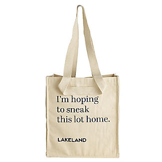 Lakeland Cotton Bag for Life - Fun Slogan Tote Natural