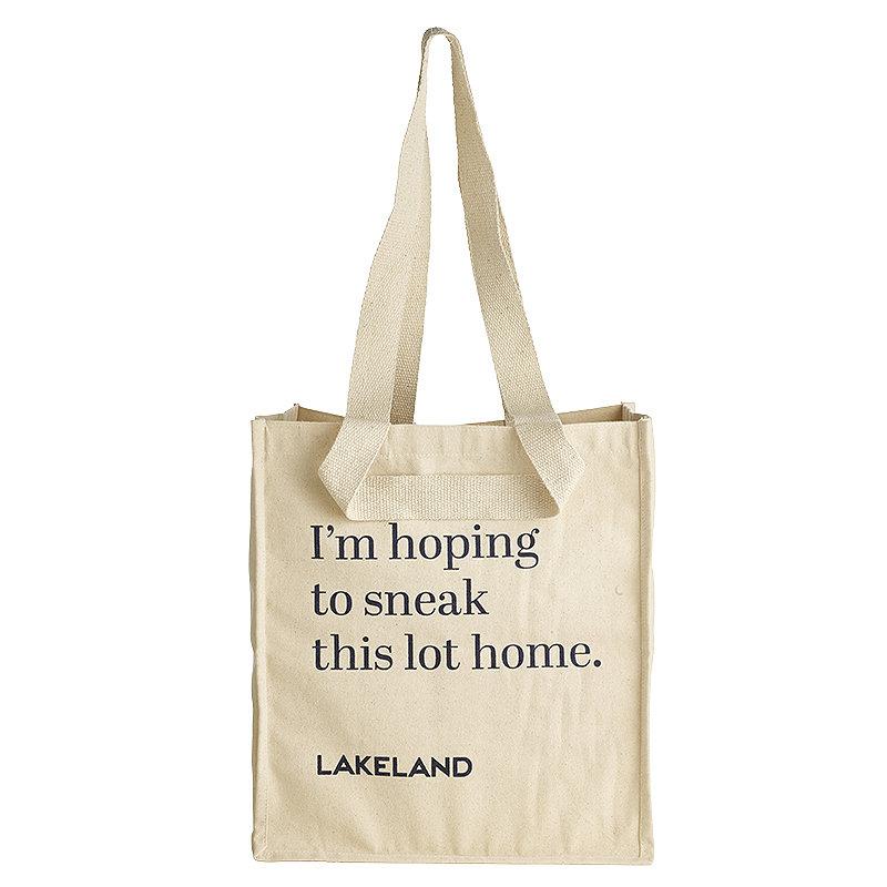 Lakeland Cotton Bag for Life - Fun Slogan Tote Natural