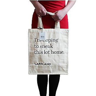 Lakeland Cotton Bag for Life - Fun Slogan Tote Natural alt image 2