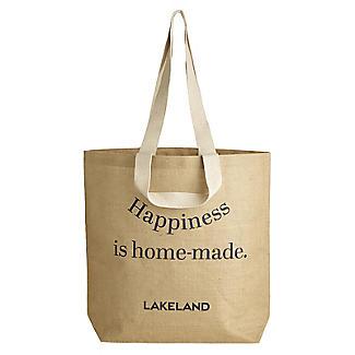 Lakeland Jute Bag for Life Fun Slogan Tote Natural