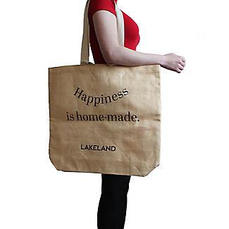Lakeland Jute Bag for Life Fun Slogan Tote Natural alt image 2