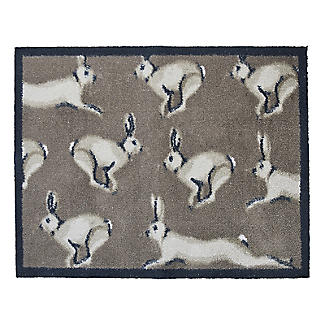 Hug Rug Indoor Door Mat Running Hares 85 x 65cm