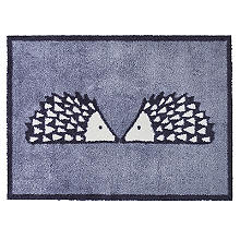 Turtle Mat Scion Kissing Spike the Hedgehog Grey Doormat 85 x 59cm
