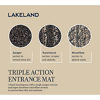 Lakeland Triple-Action Entrance Door Mat 67 x 150cm alt image 5
