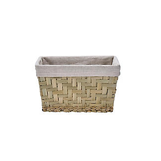 Natural Woven Storage Hamper Basket With Liner – Small alt image 3