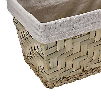 Natural Woven Storage Hamper Basket With Liner – Small alt image 5