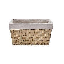 Natural Woven Storage Hamper Basket With Liner – Deep
