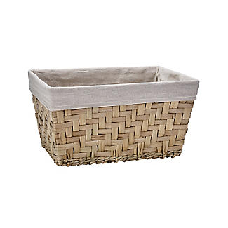 Natural Woven Storage Hamper Basket With Liner – Deep alt image 3