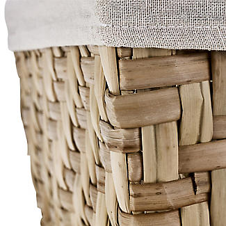 Natural Woven Storage Hamper Basket With Liner – Deep alt image 5