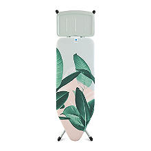 Brabantia Ironing Board C Solid Steam Unit Holder - Tropical Leaves 124x45cm