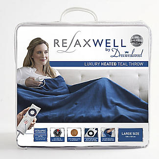 Relaxwell by Dreamland Intelliheat Heated Throw Teal 120 x 160cm alt image 5
