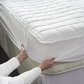 Dreamland Double Heated Mattress Protector Quilted Cotton alt image 5
