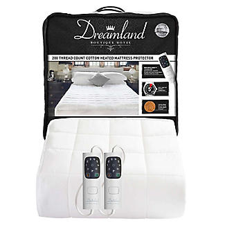 Dreamland Heated Mattress Protector Quilted Cotton Dual Control King alt image 7