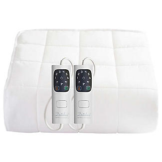 Dreamland Super King Dual Control Heated Mattress Protector Quilted Cotton