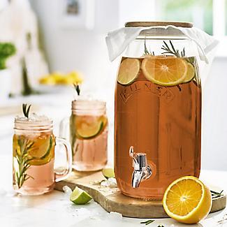 Kilner Kombucha Tea Brewing Kit with 3L Drinks Dispenser and 2 Glasses alt image 4