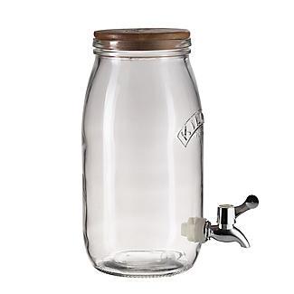 Kilner Kombucha Tea Brewing Kit with 3L Drinks Dispenser and 2 Glasses alt image 5