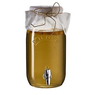 Kilner Kombucha Tea Brewing Kit with 3L Drinks Dispenser and 2 Glasses alt image 7