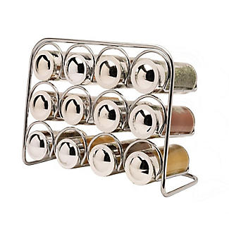 Hahn Pisa Premium 12-Jar Spice Rack with 12 Glass Jars