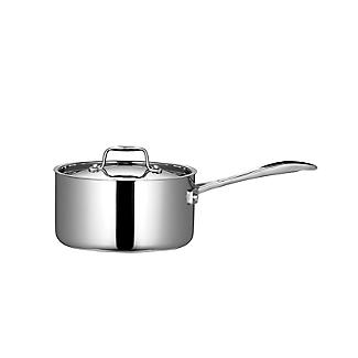 Lakeland 5-Ply Stainless Steel and Aluminium 18cm Lidded Saucepan