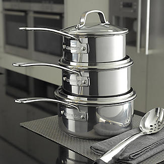 Circulon Genesis 4-Piece Stainless Steel Non-Stick Pan Set alt image 6