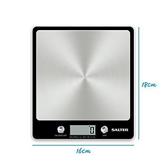 Salter Stainless Steel Aquatronic Kitchen Scales alt image 5
