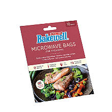 10 Bakewell Microwave Bags for Steaming 25 x 30cm
