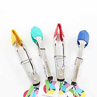 Colourworks Silicone-Tipped Mini Tongs – Colours Vary