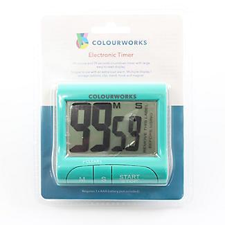 Colourworks Digital Easy Read Magnetic Kitchen Timer – Colours Vary alt image 3