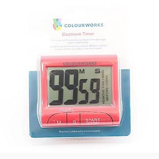 Colourworks Digital Easy Read Magnetic Kitchen Timer – Colours Vary alt image 4