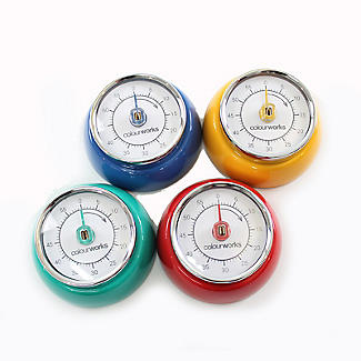 Colourworks Mechanical Magnetic Kitchen Timer – Colours Vary
