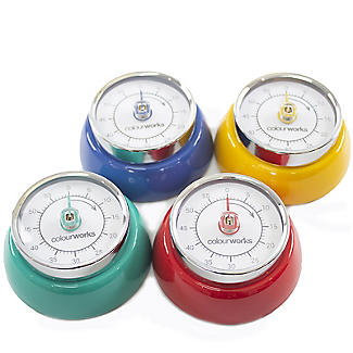 Colourworks Mechanical Magnetic Kitchen Timer – Colours Vary alt image 2