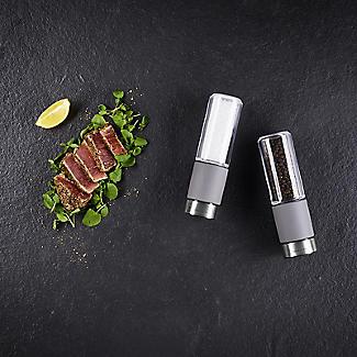 Cole & Mason Regent Concrete & Acrylic Stemless Pepper Mill alt image 3