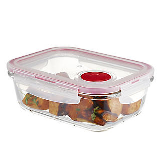 Lock & Lock Rectangular Glass Food Container 630ml