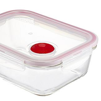 Lock & Lock Rectangular Glass Food Container 630ml alt image 3