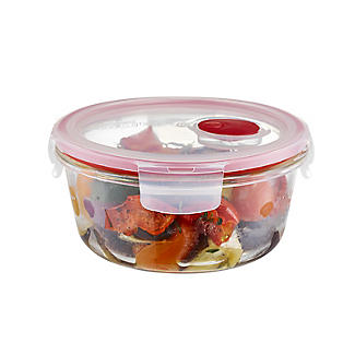 Lock & Lock Round Glass Food Container 650ml