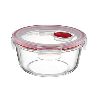 Lock & Lock Round Glass Food Container 650ml alt image 2