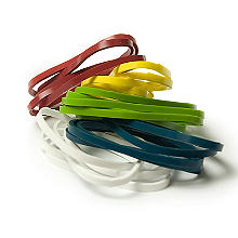 25 Silicone Cooking Bands – Assorted Colours