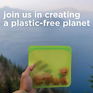 Stasher Reusable Stand Up Food Storage Bag Clear 1.7L alt image 8