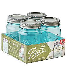 Ball Vintage Blue Preserving Jars 473ml – Pack of 4