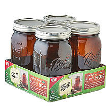 Ball Vintage Amber Preserving Jars 946ml – Pack of 4